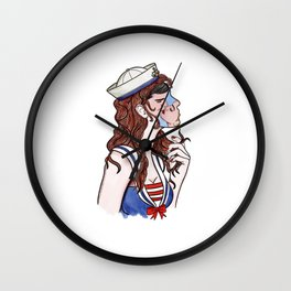 dreaming a kiss Wall Clock