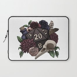 Necromancer D20 Tabletop RPG Gaming Dice Laptop Sleeve