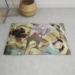 Jules Pascin - Genevieve and Loulou - Digital Remastered Edition Rug