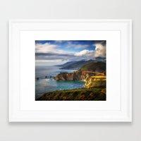 big sur Framed Art Prints featuring Big Sur by Arlene Carley