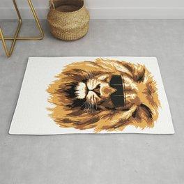 Lion at sunglasses Rug