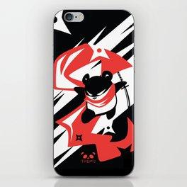 Ninja Panda in the Shadows iPhone Skin