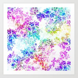 Watercolor Confetti Art Print