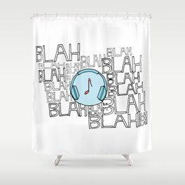 The power of music to cut through the noise Shower Curtain