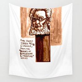 Rare Henrik Ibsen Pez dispenser illustration Wall Tapestry