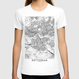 Rotterdam White Map T-shirt