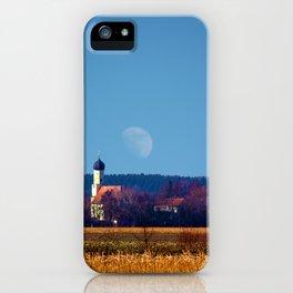 Concept landscape : View to a chapel iPhone Case