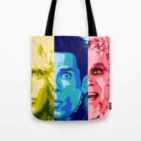 will ferrell Tote Bags featuring Zoo Pop by victorygarlic
