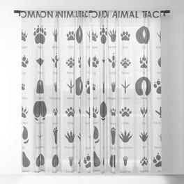 Common Animal Tracks Sheer Curtain