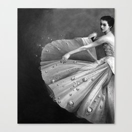 White Morning - graphite pencil drawing Canvas Print