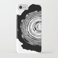 tree rings iPhone & iPod Cases featuring Tree Rings by vogel
