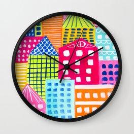 Cityscape Wall Clock