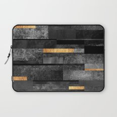 Urban Black & Gold Laptop Sleeve