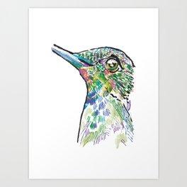 Dotted Hummingbird Art Print