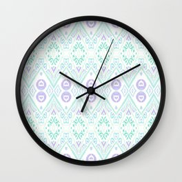 Ikat Java Purple Wall Clock
