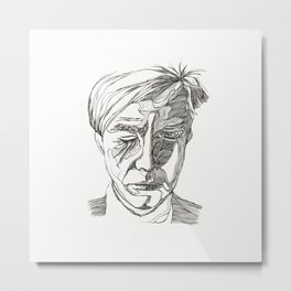 Andy portrait Metal Print