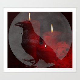 Under Your Spell in Red Art Print