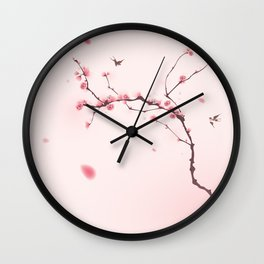Oriental cherry blossom in spring 001 Wall Clock