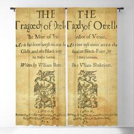 Shakespeare. Othello, 1622. Blackout Curtain