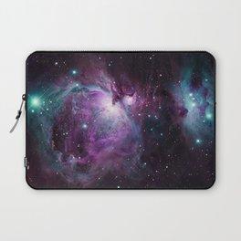 Orion Nebula Purple teal full Laptop Sleeve
