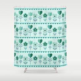 LOVE GARDEN - SEAFOAM Shower Curtain