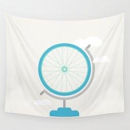 Bike Globe Wall Tapestry