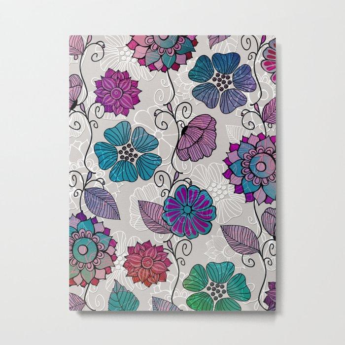 Flower Flow #2 Metal Print