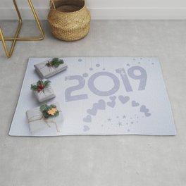 2019 New Year Christmas Presents Rug