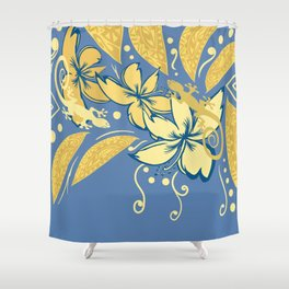 Samoan Orchid Sunset Polynesian Floral Shower Curtain