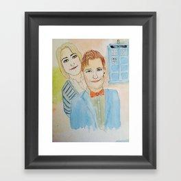 doctor who tardis  Framed Art Print