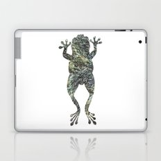 green lichen leaping frog silhouette Laptop & iPad Skin