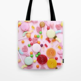 Candy Print Tote Bag