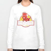 parks and rec Long Sleeve T-shirts featuring Jurassic Parks and Rex Creation by Tabner's
