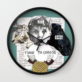 Time to choose (collage) Wall Clock
