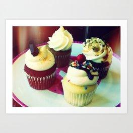 Cupcake Quartet Art Print