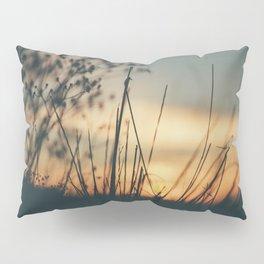 Vintage Wild Grass Sunset Pillow Sham