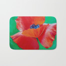 Single Poppy Bath Mat