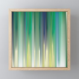 background, blue, green and yellow strips Framed Mini Art Print