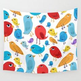 Birds Birds Birds Wall Tapestry
