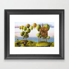 City in the Sky_Lanscape Format Framed Art Print