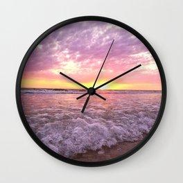 a tropical sunset Wall Clock