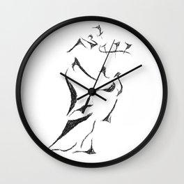 Bagpiper Sketch Wall Clock