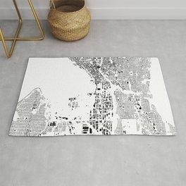 Seattle Map Schwarzplan Only Buildings Rug