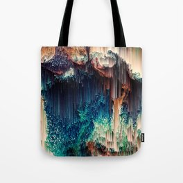 Cave of Wonders - Abstract Glitch Pixel Art Tote Bag