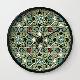 8-fold Rosettes with Flowers Wall Clock