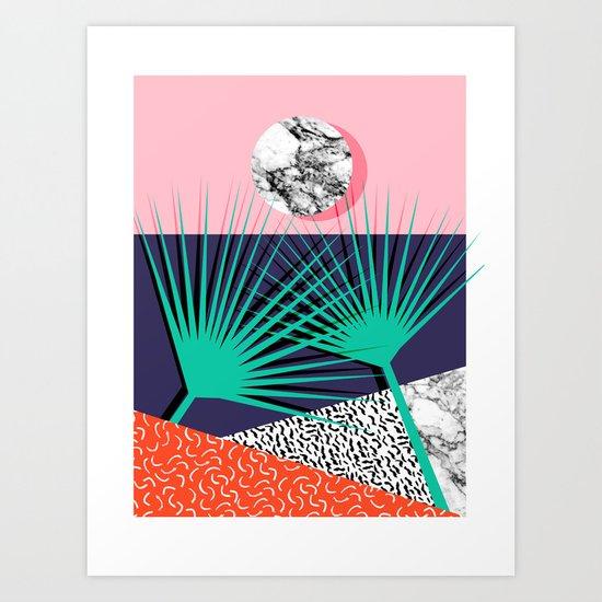 head rush palm springs throwback desert sunrise neon 80s style vintage fresh home decor hipster - Home Decor Liquidators