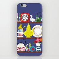 scandinavian iPhone & iPod Skins featuring Scandinavian Shelf Collectibles by Elisandra