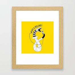Snake singing Flashdance   Animal Karaoke   Illustration Framed Art Print