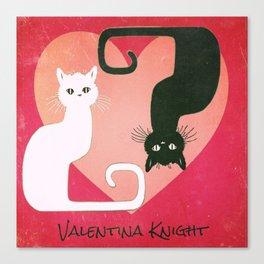 Kitty Yin Yang Canvas Print
