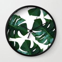 Monstera exotica Wall Clock